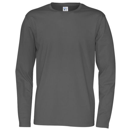 Långärmad rundhalsad herr t-shirt med 100% ekologisk Fairtrade bomull